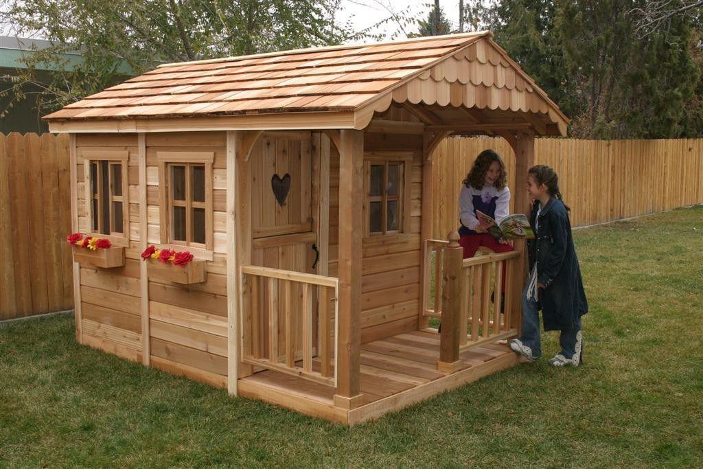 Детские дачные домики из дерева своими руками