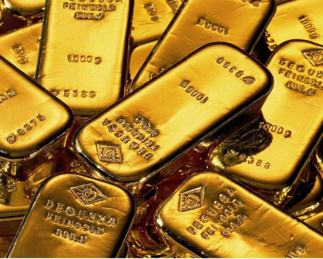 Золото спустилось